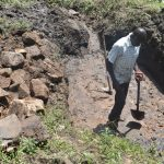 The Water Project: Bukalama Community, Wanzetse Spring -  Foundation Area Cleared