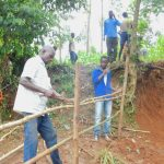 The Water Project: Mukhweso Community, Shemema Spring -  Building The Fence