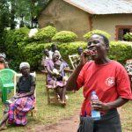 The Water Project: Mukhweso Community, Shemema Spring -  Toothbrushing Volunteer