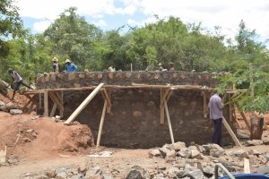The Water Project:  Building Top Of The Tank Wall