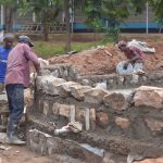 The Water Project: Tyaa Kamuthale Secondary School -  Building Walls