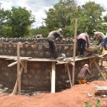 The Water Project: Tyaa Kamuthale Secondary School -  Masons Working On The Tank