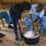 The Water Project: Tyaa Kamuthale Secondary School -  Student Mixes Soap