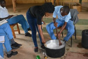 The Water Project:  Student Mixes Soap