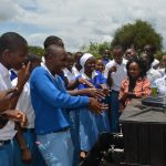 The Water Project: Tyaa Kamuthale Secondary School -  Students Wash Their Hands