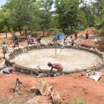 The Water Project: Tyaa Kamuthale Secondary School -  View Of Tank Foundation Progress