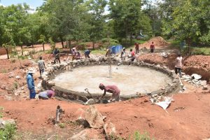 The Water Project:  View Of Tank Foundation Progress