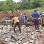 The Water Project: Tyaa Kamuthale Secondary School -  Working On The Tank Walls