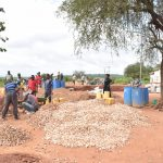 The Water Project: Kamuwongo Primary School -  Tank Construcion