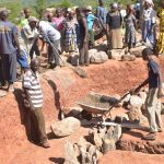 The Water Project: Kamuwongo Primary School -  Tank Foundation Work