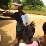 The Water Project: Lungi, New York, Robis, #7 Masata Lane -  Hygiene Facilitator Teaching About Breastfeeding And Its Importance