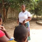 The Water Project: Lungi, New York, Robis, #7 Masata Lane -  Facilitator Teaches How To Care For Pump