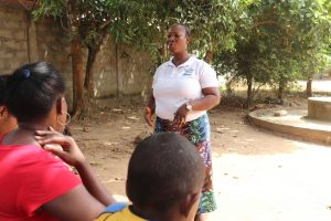 The Water Project:  Facilitator Teaches How To Care For Pump
