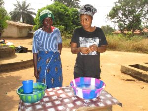 The Water Project:  Demonstrating Handwashing