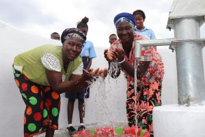 The Water Project:  Community Members Enjoying Clean Water