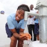 The Water Project: Lungi, International High School For Science & Technology -  Student Drinking Clean And Safe Water
