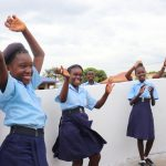 The Water Project: Lungi, International High School For Science & Technology -  Students Celebrating