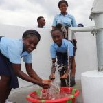 The Water Project: Lungi, International High School For Science & Technology -  Students Playing And Splashing Safe Drinking Water