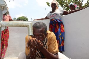 The Water Project:  Headman Drinking Clean And Safe Water