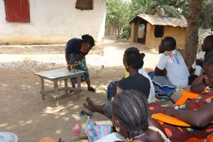 The Water Project:  Hygiene Facilitator Teaches About Balanced Diets
