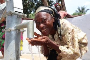 The Water Project:  Woman Drinking Clean And Safe Water