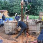 The Water Project: Lokomasama, Gbonkogbonko Village -  Drilling