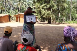 The Water Project:  Hygiene Facilitator Taeching About Coronavirus