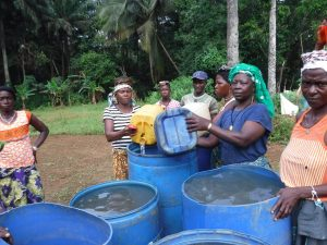The Water Project:  Community Members Collecting Water For Drilling