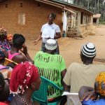 The Water Project: Lokomasama, Gbonkogbonko Village -  Hygiene Facilitator Teaching About Bad Hygiene Practices