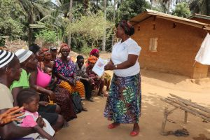 The Water Project:  Hygiene Facilitator Teaching About Clotheslines