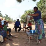 The Water Project: Lokomasama, Gbonkogbonko Village -  Hygiene Facilitator Teaching About Diarrhea