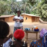 The Water Project: Lokomasama, Gbonkogbonko Village -  Hygiene Facilitator Teaching Proper Way Of Handwashing
