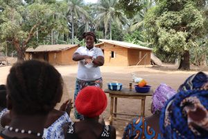 The Water Project:  Hygiene Facilitator Teaching Proper Way Of Handwashing