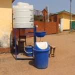 The Water Project: Lungi, Suctarr, 1 Kamara Street, Government Hospital Pump 1 -  Handwashing Station At The Entrance Of The Hospital
