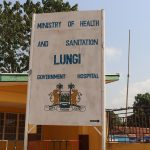 The Water Project: Lungi, Suctarr, 1 Kamara Street, Government Hospital Pump 1 -  Hospital Sign Board