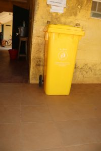 The Water Project:  Waste Bin At Hospital