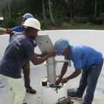 The Water Project: Lokomasama, Gbonkogbonko Village -  Pump Installation