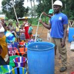 The Water Project: Lokomasama, Gbonkogbonko Village -  Yield Test