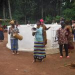 The Water Project: Lokomasama, Gbonkogbonko Village -  Community Members Celebrating
