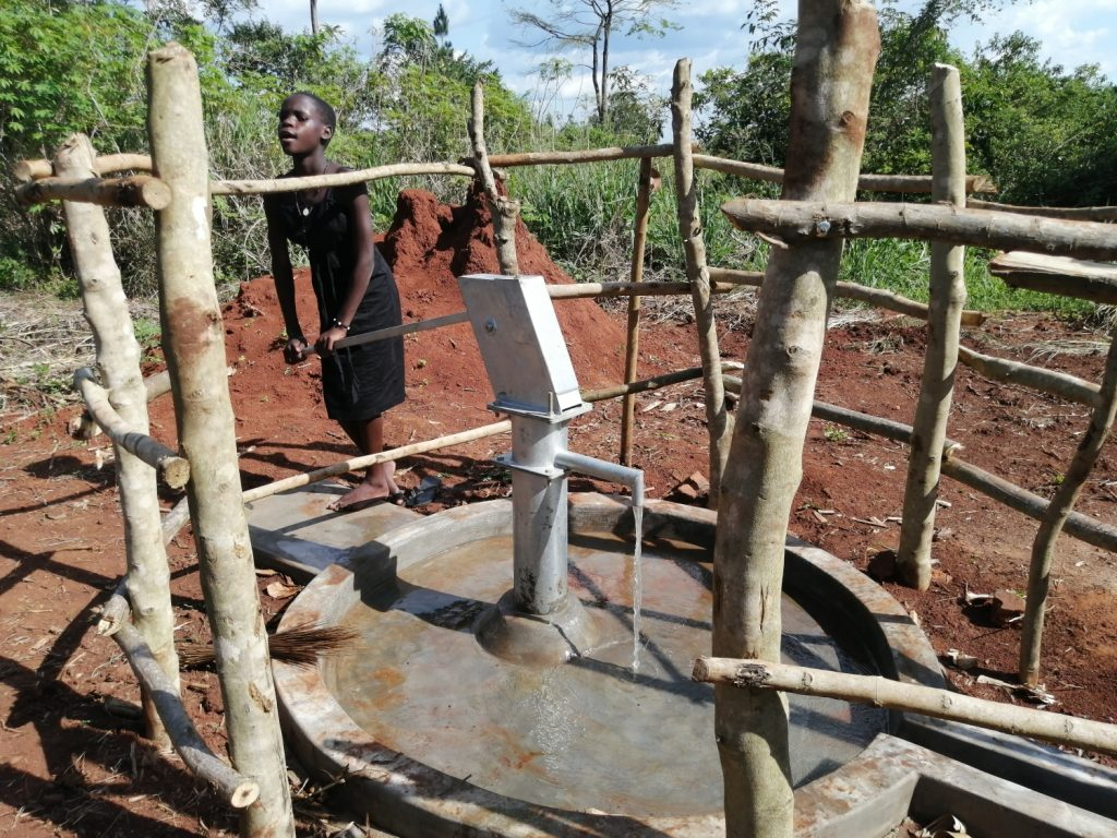 The Water Project : uganda20354-water-flowing-4