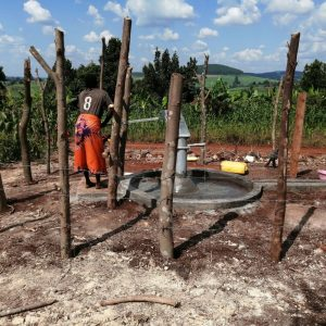 The Water Project:  Fetching Water At The New Well