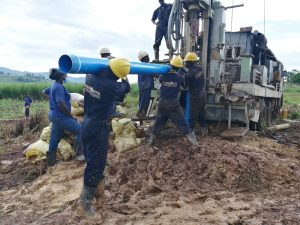 The Water Project:  Pump Casing Installation
