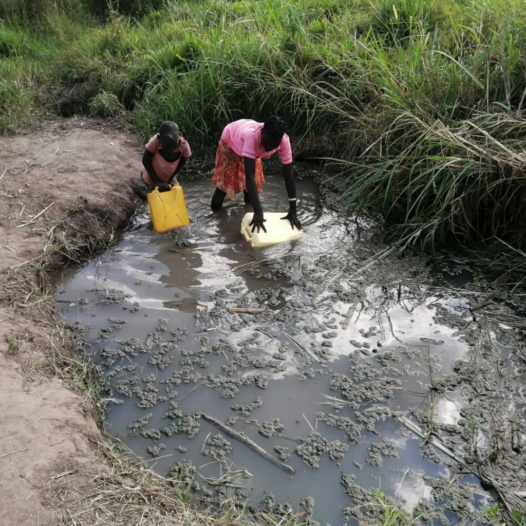 The Water Project : uganda21602-collecting-water-at-the-open-source
