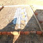The Water Project: Eshimuli Primary School -  Latrine Pad Construction