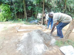 The Water Project:  Preparing Cement