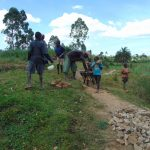 The Water Project: Mahira Community, Mukalama Spring -  Community Delivers Materials To Spring