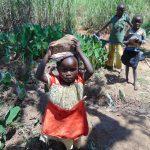 The Water Project: Mahira Community, Mukalama Spring -  Kids Helped Bring Materials Too