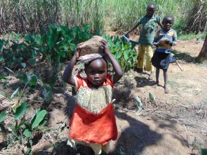 The Water Project:  Kids Helped Bring Materials Too