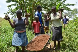 The Water Project:  Delivering Materials To Spring Site