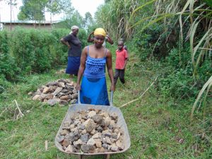 The Water Project:  Delivering Rocks To Spring Site
